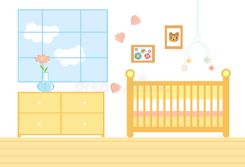A room for a baby royalty free illustration