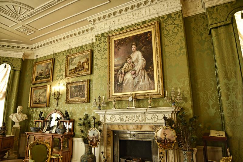Room in a Beautiful Country House near Leeds West Yorkshire that is not a National Trust Property. Edwardian Country House that has been kept in its original royalty free stock images