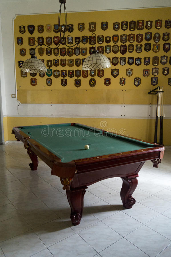 Download Room with billiards editorial stock image. Image of landscape - 91858474