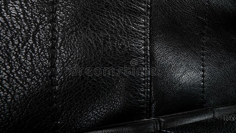 Room with a black leather wall and ceiling. 3D rendering. Room with a black leather wall and ceiling. old metal texture. 3D rendering royalty free stock photos