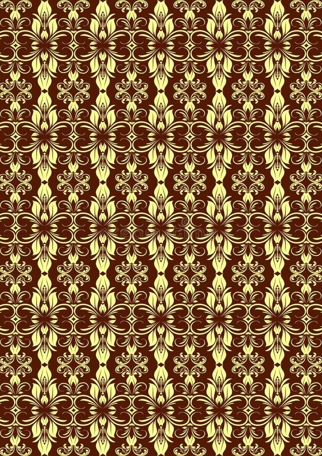 Room Bruin Naadloos Bloemenpatroon royalty-vrije illustratie