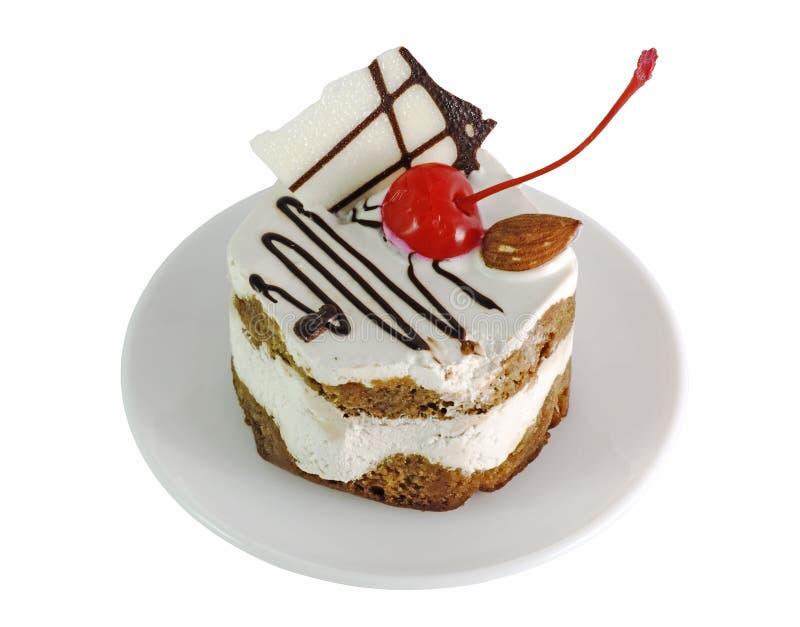 room cake met kersen stock afbeelding