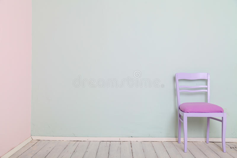 Room chair color wall Mint pink royalty free stock photo