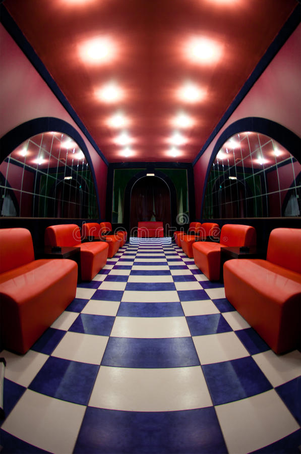 Download Room With A Checkered Floor Stock Image - Image: 18763015