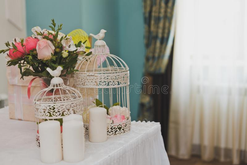 Download Round Bird Cages As Decorative Elements Of The Room 9270. Stock  Image   Image