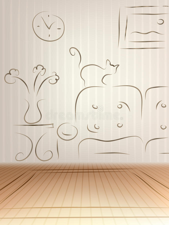 Download Room design sketch stock vector. Image of design, concept - 16223766