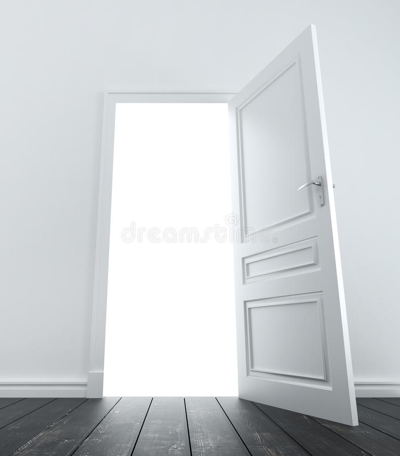 Room with door royalty free illustration