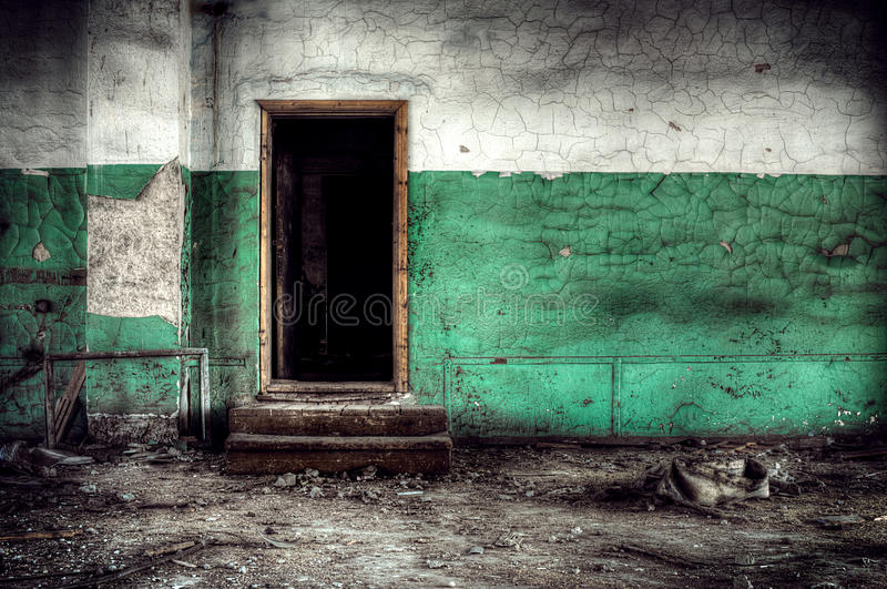 Room with door royalty free stock photo
