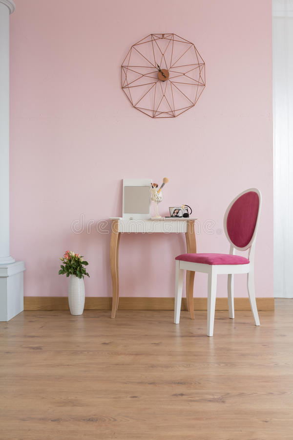 Room with dressing table stock photos