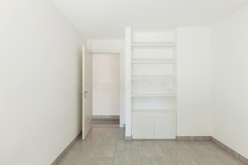 Room of empty apartment stock photography
