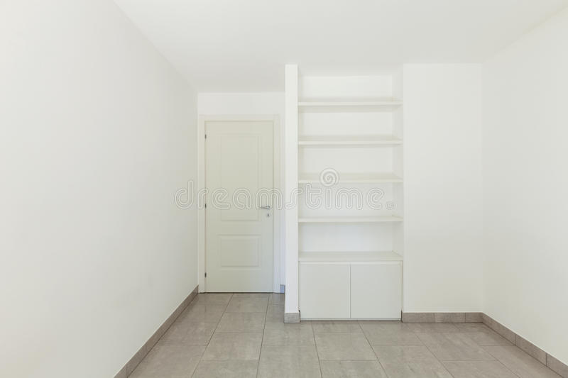 Room of empty apartment royalty free stock photography