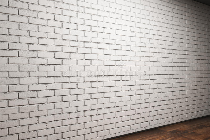 Download Room With Empty Brick Wall Side Stock Illustration