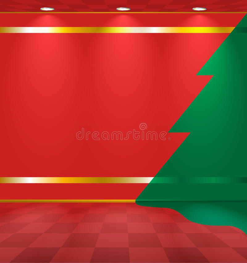 Download Room with fir on the wall stock vector. Image of background - 23002986