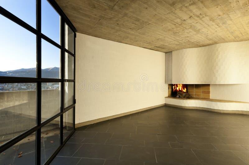 Room fireplace stock photo