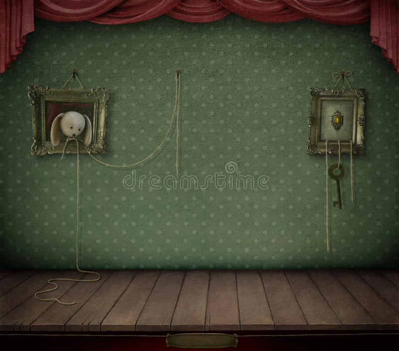 Room with frame. stock illustration