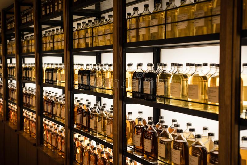 Download Room Full Of Whisky Cabinets Storing Different Types Of Whiskey  Editorial Stock Image   Image