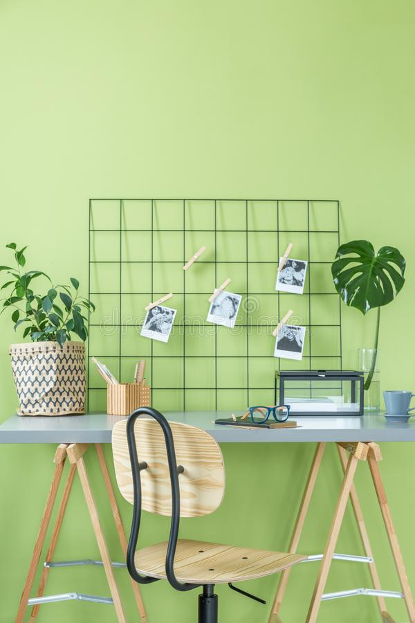 Room with green wall royalty free stock images