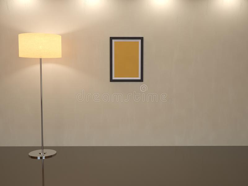 Download Room With A High Floor Lamp Stock Illustration - Illustration: 22941572