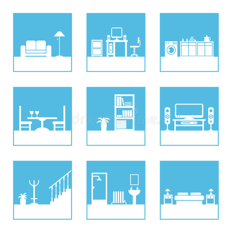 Free Room Icons Royalty Free Stock Photos - 12788668