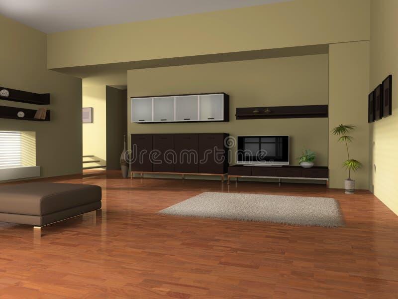 Download Room interior stock illustration. Illustration of television - 10889764