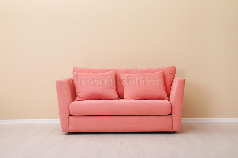Room interior with comfortable sofa royalty free stock photos