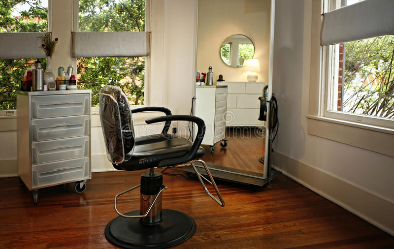 Modern beauty salon stock image