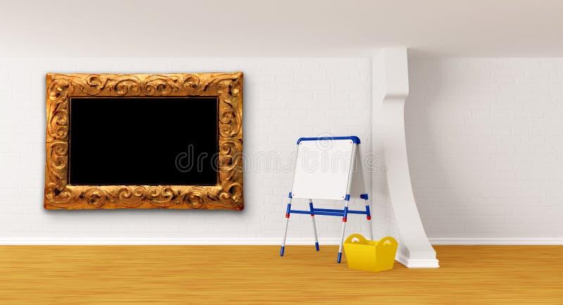 Download Room with kid's board stock illustration. Illustration of flip - 20592232