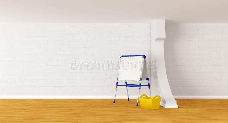 Download Room with kid's board stock illustration. Image of indoors - 20592245