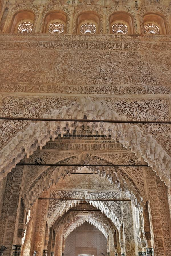 The room of the kings of the Alhambra of Granada, Andalucia, Spain royalty free stock photo