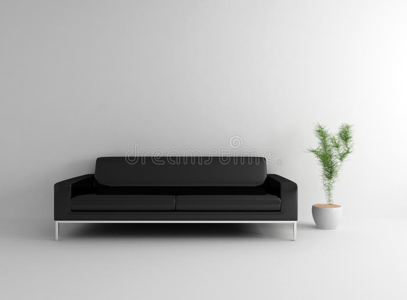Room With Leather Couch Royalty Free Stock Image