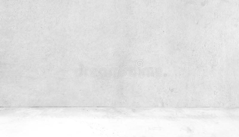 Room Made of Concrete Wall and Concrete FloorAbstract white interior of empty room with concrete walls. Abstract white interior of empty room with concrete walls stock images
