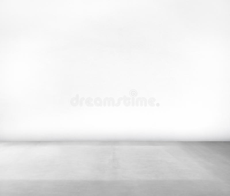 Room Made of White Wall and Concrete Floor royalty free stock photography