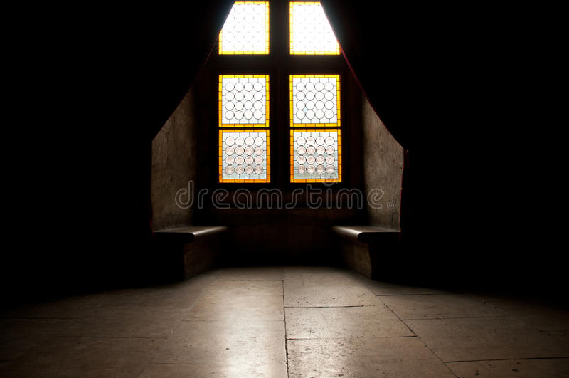 Room in medieval castle stock images