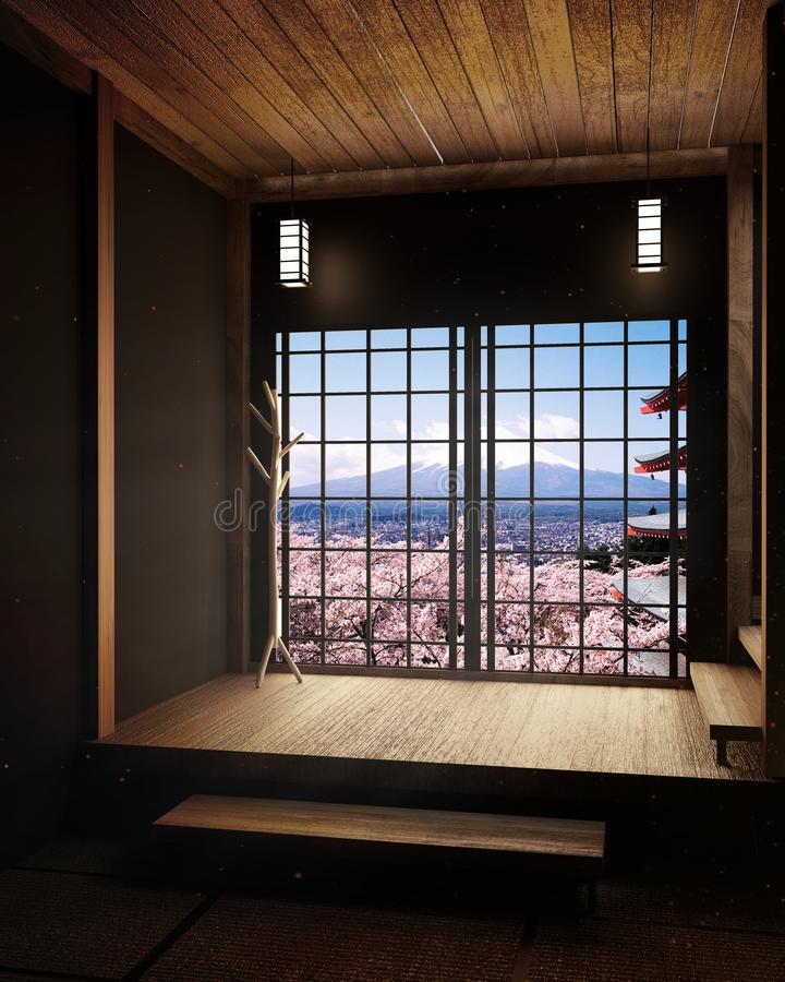 3d Room Interior Design: Room Minimal Design With Tatami Mat Floor And Japanese