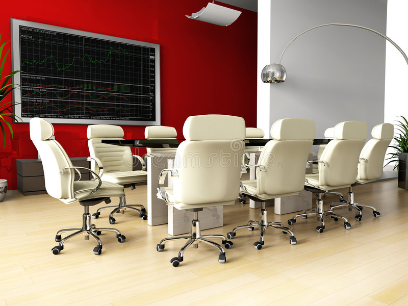 Room of negotiation in office royalty free stock photo