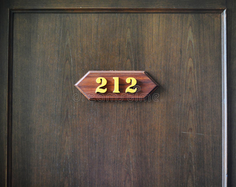 Room Number 212 Stock Photo Image 46672432