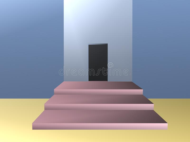 Room with opening in wall illustration royalty free illustration