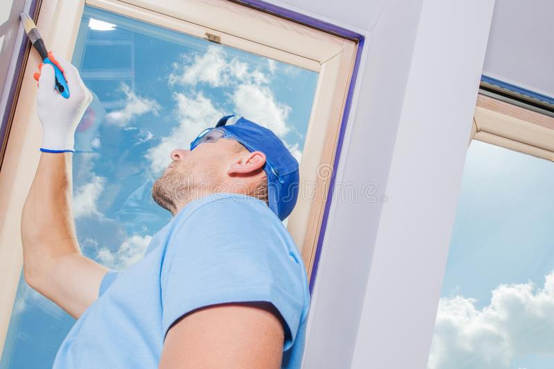 Room Painting by Men royalty free stock image