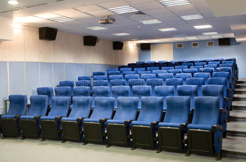 Room for presentations. Room for business presentations, lectures and watching movies stock photos