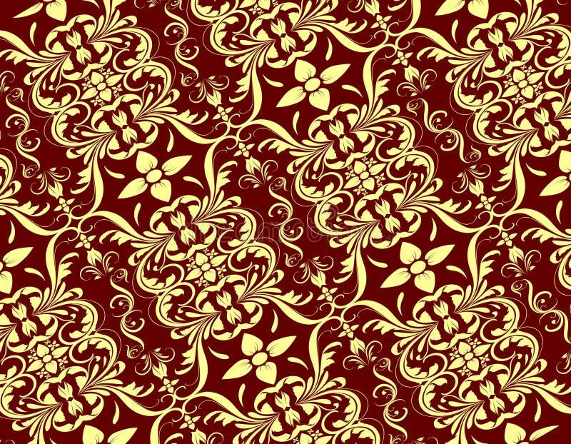 Room Rood Naadloos Bloemenpatroon vector illustratie