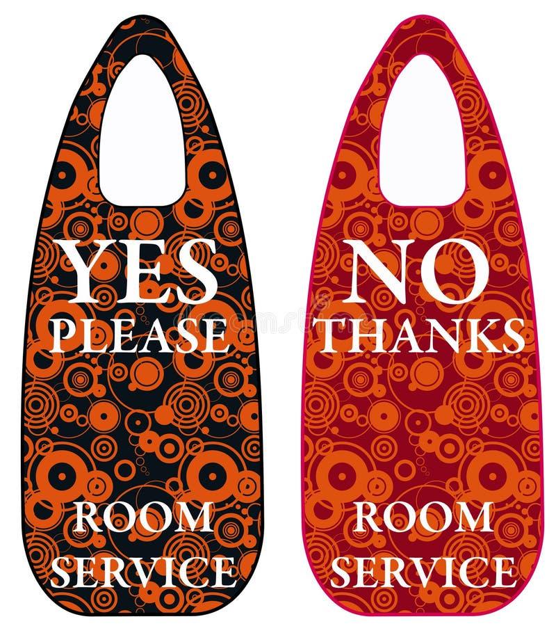Room service royalty free illustration