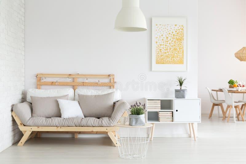 Room with sofa stock photo