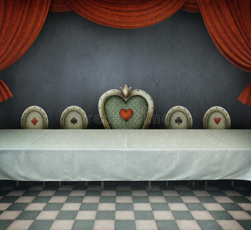 Room with table royalty free illustration