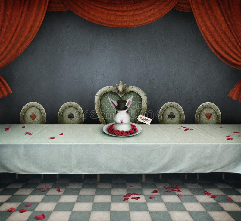 Download Room with table stock illustration. Image of breakfast - 26434230