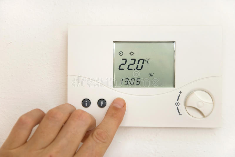 Download Room thermostat stock image. Image of heating, heat, wall - 14850427