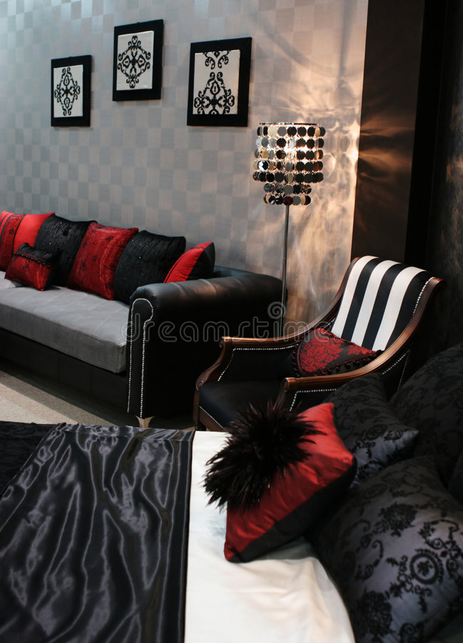 Room in a trendy home stock photography