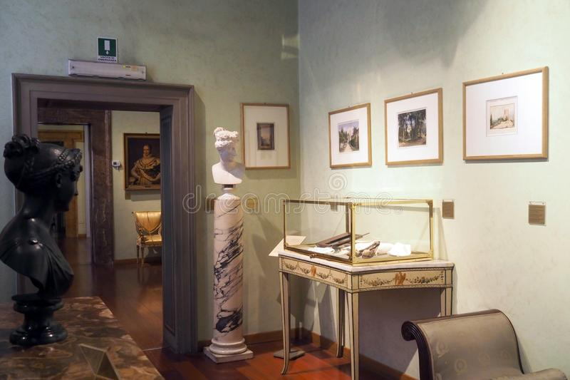 The Napoleonic Museum in Rome, Italy. Room VI - Pauline Bonaparte in the Napoleonic Museum in Rome Italy. This room, dedicated to Pauline Bonaparte Borghese stock image