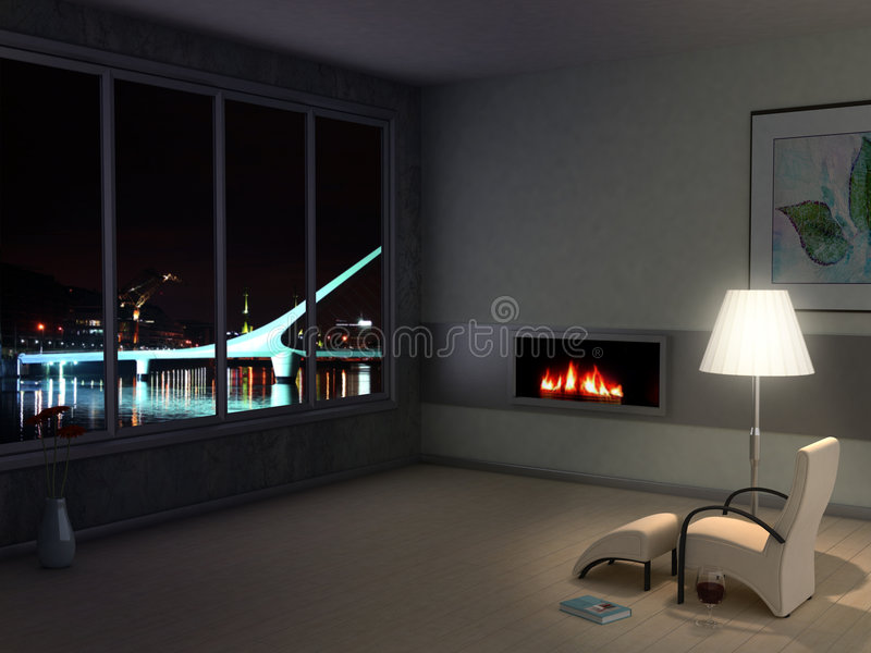 Room with the view royalty free stock photos