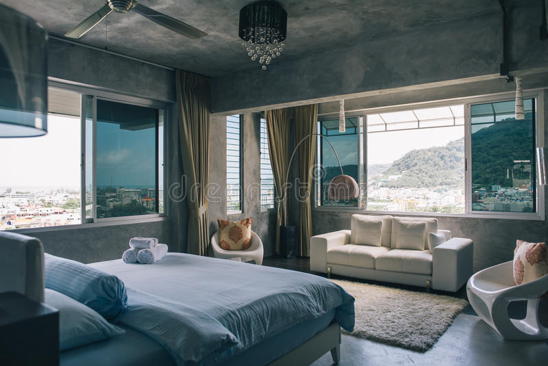Room of a villa royalty free stock photos