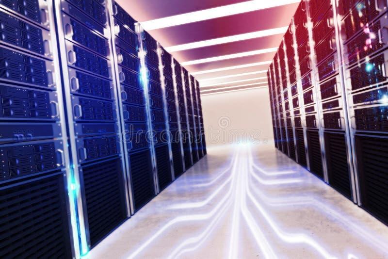 Room of virtual database stock photo